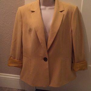 NWOT size 14 mustard yellow suit jacket